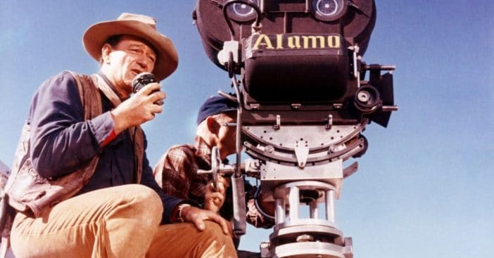 John Wayne working on 'The Alamo'