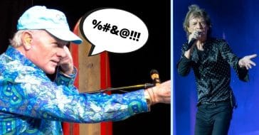 Mike Love and Mick Jagger
