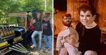 Rob Zombie and Butch Patrick ride the Munsters Koach
