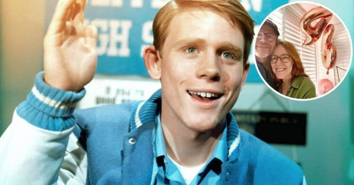 Ron Howard and his wife celebrate their wedding anniversary