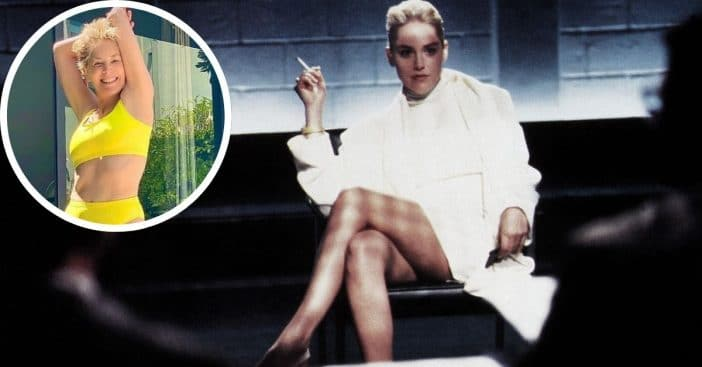 Sharon Stone welcomes the summer