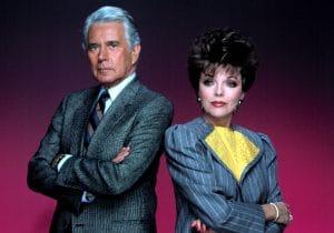 John Forsythe and Joan Collins as Blake Carrington and Alexis Carrington-Colby, 1981-1989