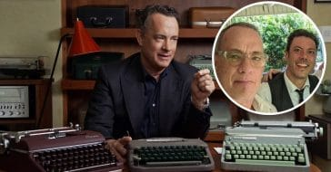 Tom Hanks visits fan who has a shared interest in typewriters