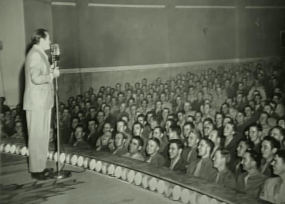 Bob Hope entertains the troops