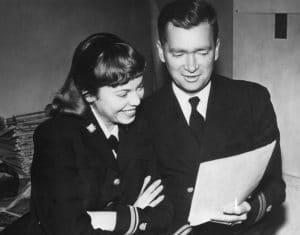 Ebsen with wife, Nancy