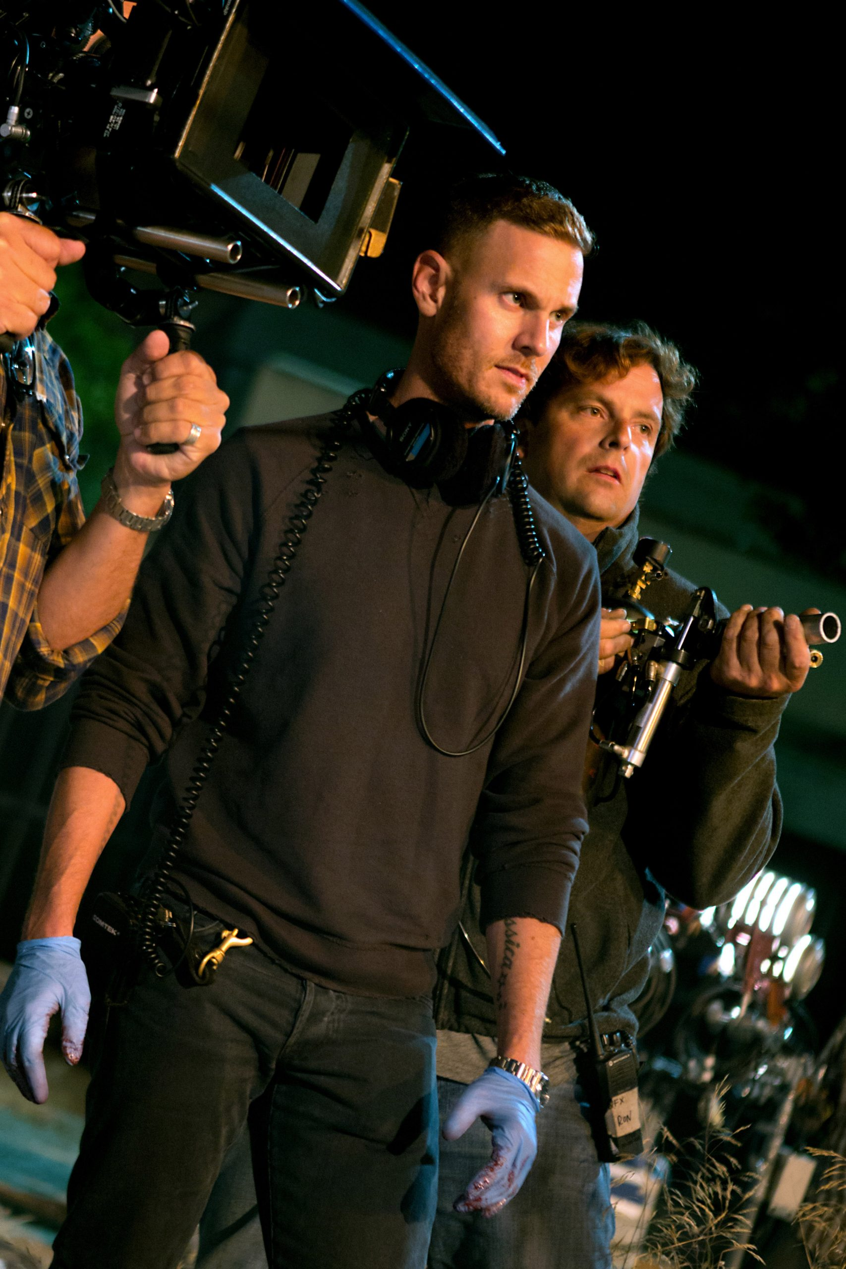 SCOUTS GUIDE TO THE ZOMBIE APOCALYPSE, (aka SCOUT'S GUIDE TO THE ZOMBIE APOCALYPSE), director Christopher Landon, on set, 2015