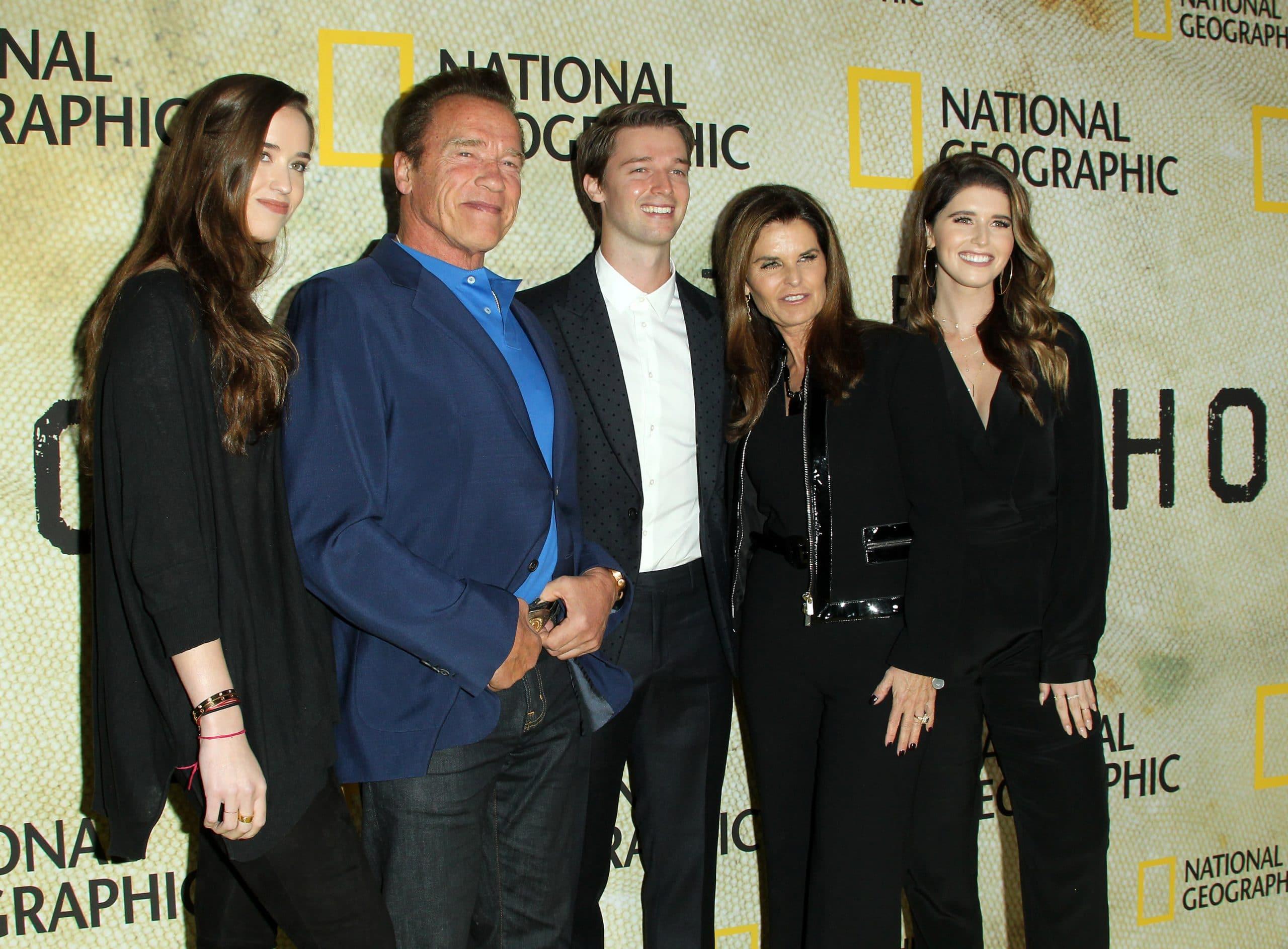 Christina Schwarzenegger, Arnold Schwarzenegger, Patrick Schwarzenegger, Maria Shriver and Katherine Schwarzenegger