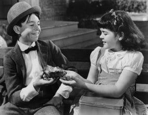 Carl 'Alfalfa' Switzer, Darla Hood, 1940