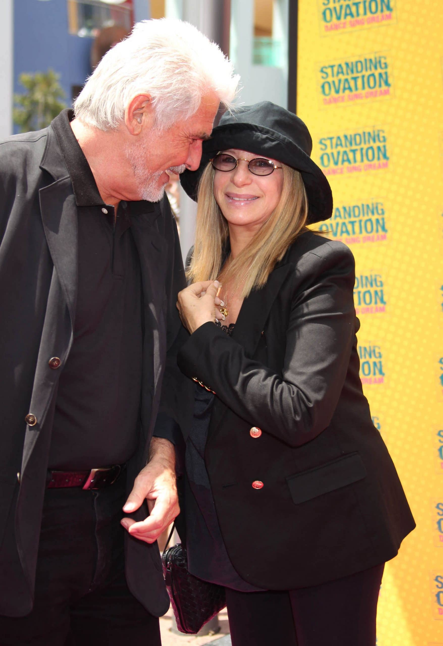 """James Brolin and Barbra Streisand at the premiere of """"Standing Ovation"""""""