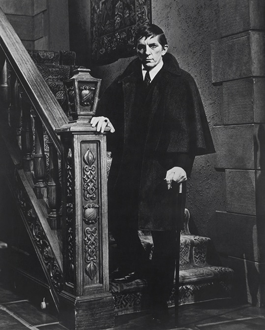 Jonathan Frid in full costume as Barnabas Collins