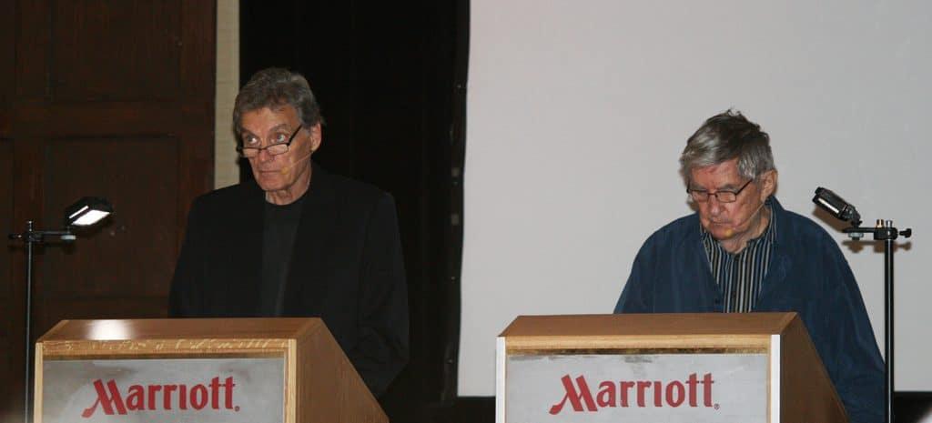 Jonathan Frid giving a live reading