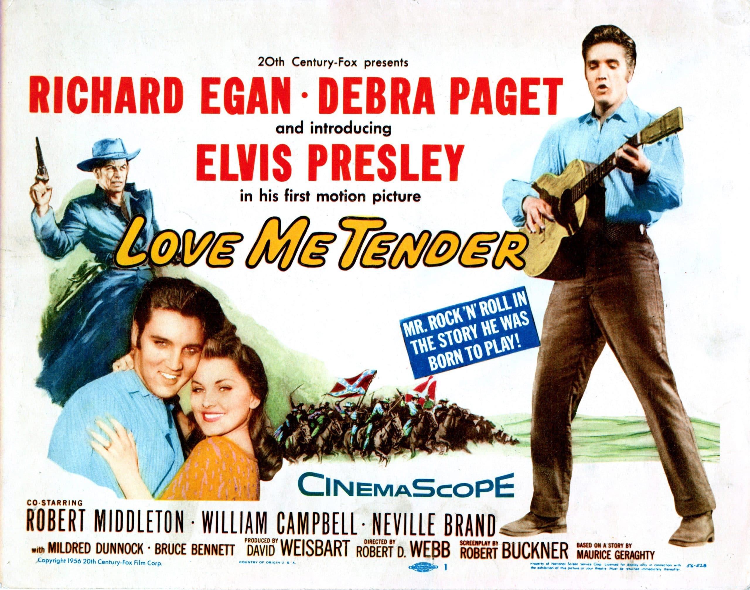 LOVE ME TENDER, Richard Egan, Elvis Presley, Debra Paget, 1956