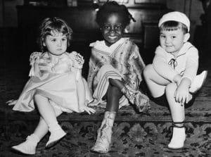 From left: Patsy May, Billie 'Buckwheat' Thomas, Eugene 'Porky' Lee
