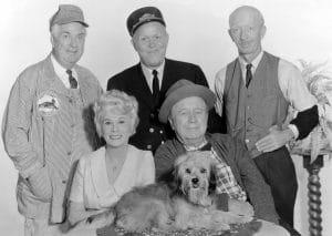 PETTICOAT JUNCTION, (back l-r): Smiley Burnette, Rufe Davis, Frank Cady, (front l-r): Bea Benaderet,