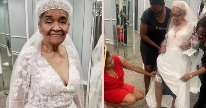 70 Years After She Was Married, Woman Finally Wears Wedding Dress Of Her Dreams