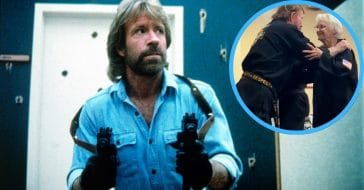 Chuck Norris and Carole Taylor, fifth degree black belt
