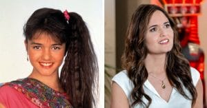 Danica McKellar then and now