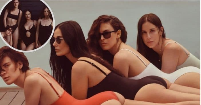 Demi Moore, Tallulah, Rumer, and Scout Willis