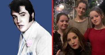 Elvis Presley, his daughter, and granddaughters