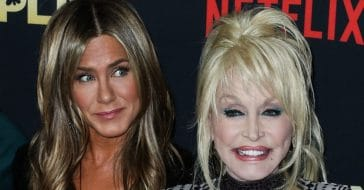 Jennifer Aniston cried after singing for Dolly Parton