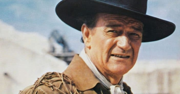 John Wayne on the Pledge of Allegiance as a thank you to America