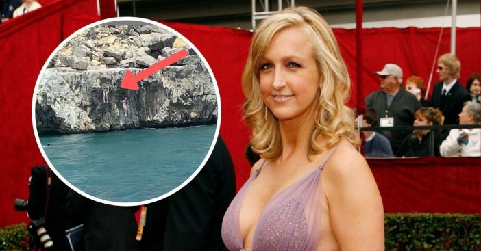 Lara_Spencer_cliff_dives_with_daughter_in_video