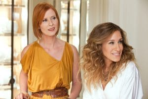 SEX AND THE CITY 2, from left: Cynthia Nixon, Sarah Jessica Parker