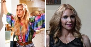 Olivia d'Abo then and now