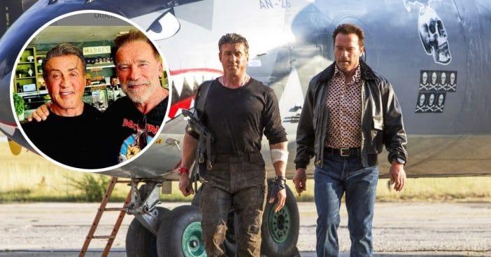 Sylvester Stallone and Arnold Schwarzenegger reunited