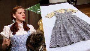 The dress has been lost in a bag for four decades