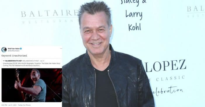Wolfgang Van Halen is not happy about unauthorized biography of his dad