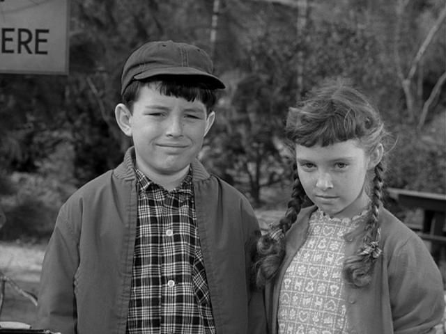 Jerry Mathers and Veronica Cartwright on 'Leave It to Beaver'