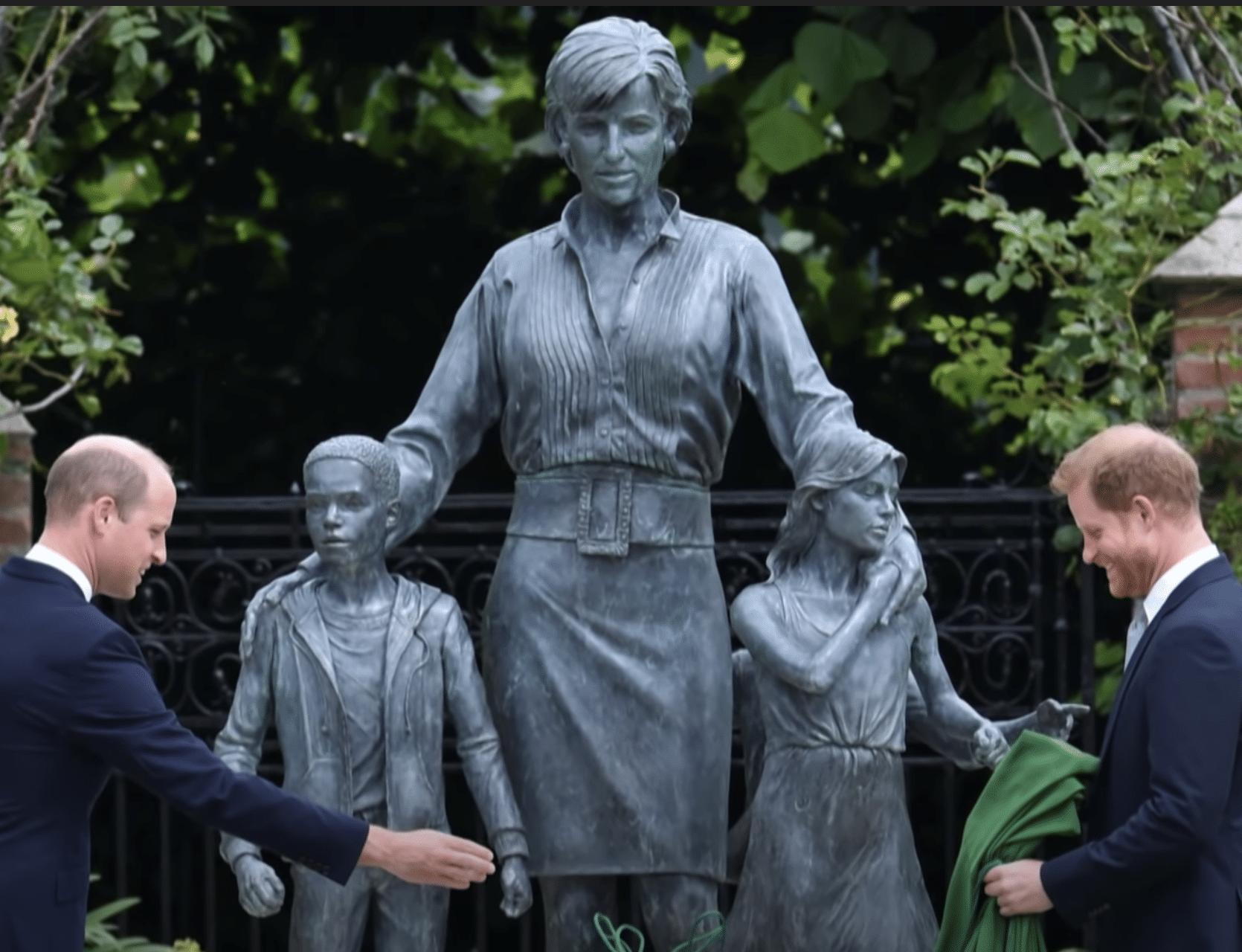 Prince William and Harry unveil statue of Princess Diana