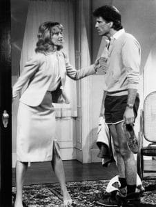 from left, Shelley Long, Ted Danson, 'Power Play,' aired September