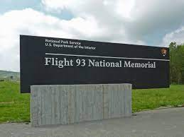 A memorial to Flight 93, a key point in the bike run