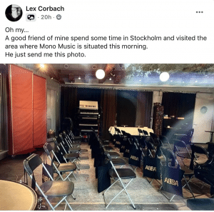 A potential inside picture of the ABBA studio used for new music