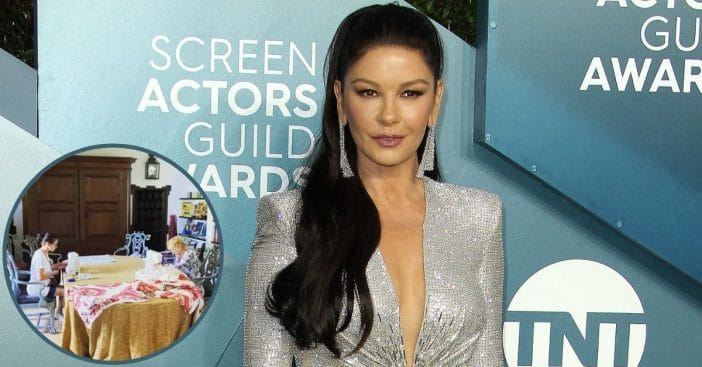 Catherine Zeta-Jones Shares Rare Family Video From Inside Vacation Home