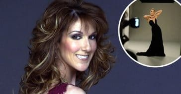 Celine Dion looks stunning in a black gown
