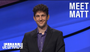 Matt Amodio, enjoying ongoing success on Jeopardy!