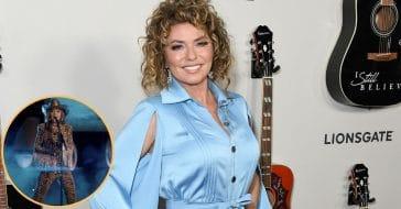 Shania Twain Stuns In Cheetah Print Bodysuit For Special Anniversary Clip