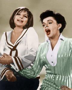 THE JUDY GARLAND SHOW, from left: Barbra Streisand, Judy Garland