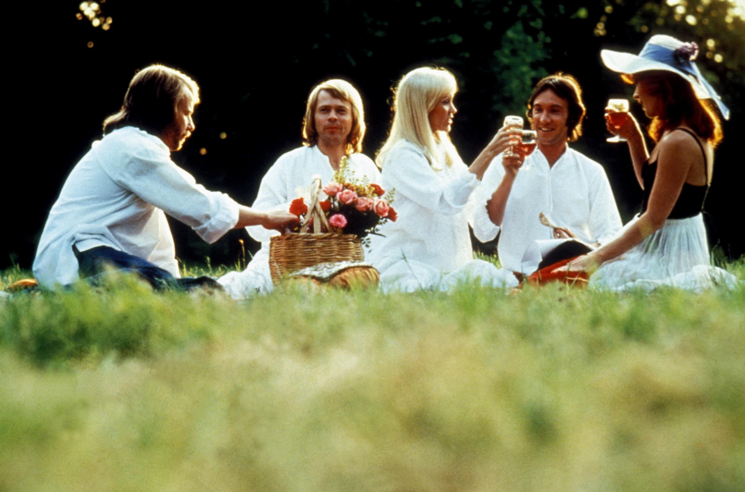 ABBA: THE MOVIE, Benny Andersson, Bjorn Ulvaeus, Agnetha Faltskog, Robert Hughes, Anni-Frid Lyngstad, 1977