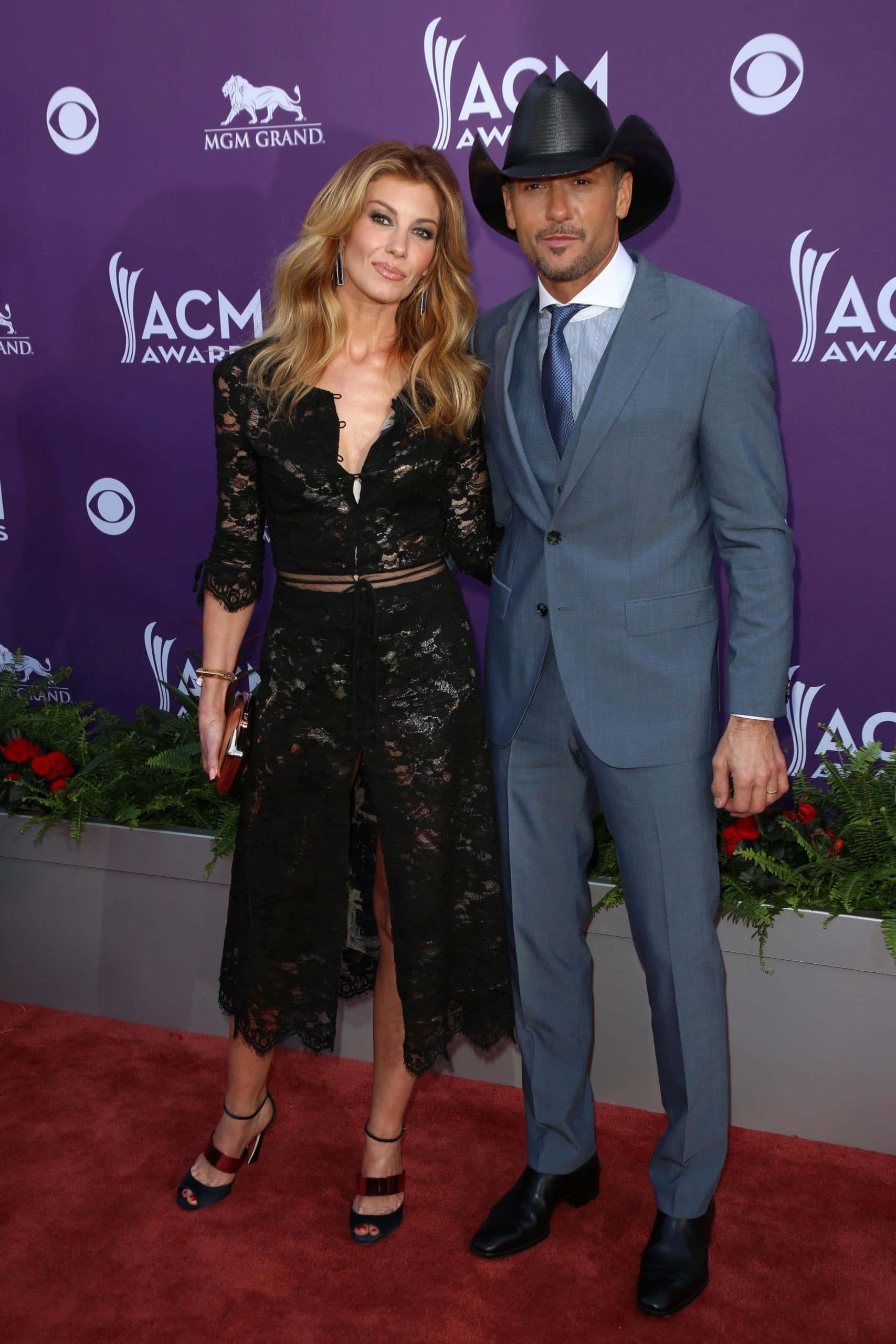 Faith Hill, Tim McGraw at the 48th Annual Academy Of Country Music Awards Arrivals