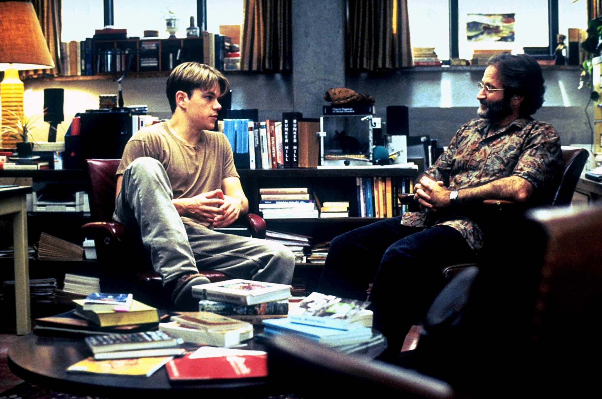 GOOD WILL HUNTING, Matt Damon, Robin Williams, 1997