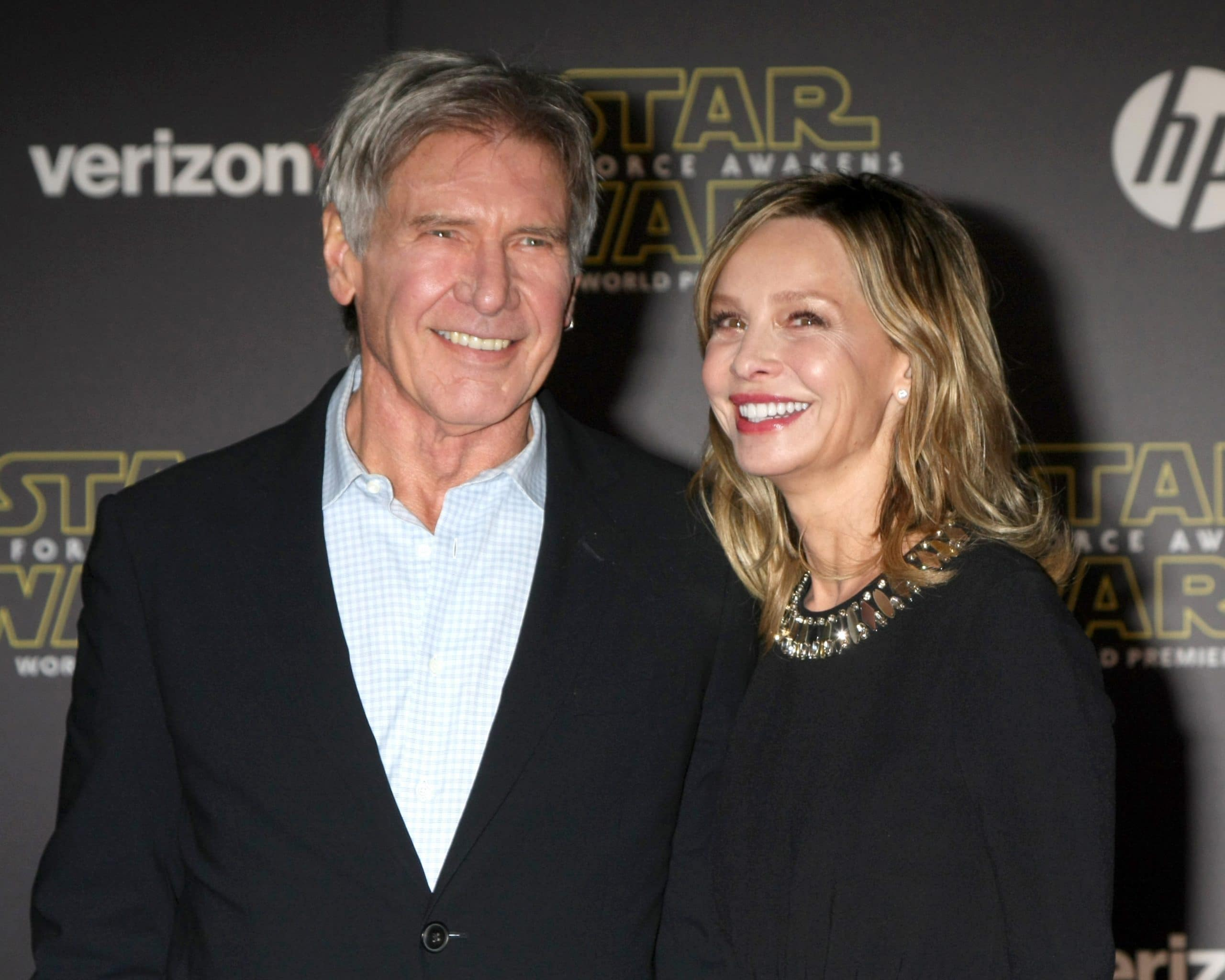Harrison Ford, Calista Flockhart at the Star Wars: The Force Awakens World Premiere