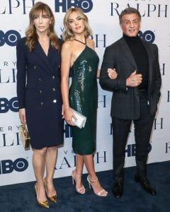 Jennifer Flavin, Sistine Stallone and Sylvester Stallone