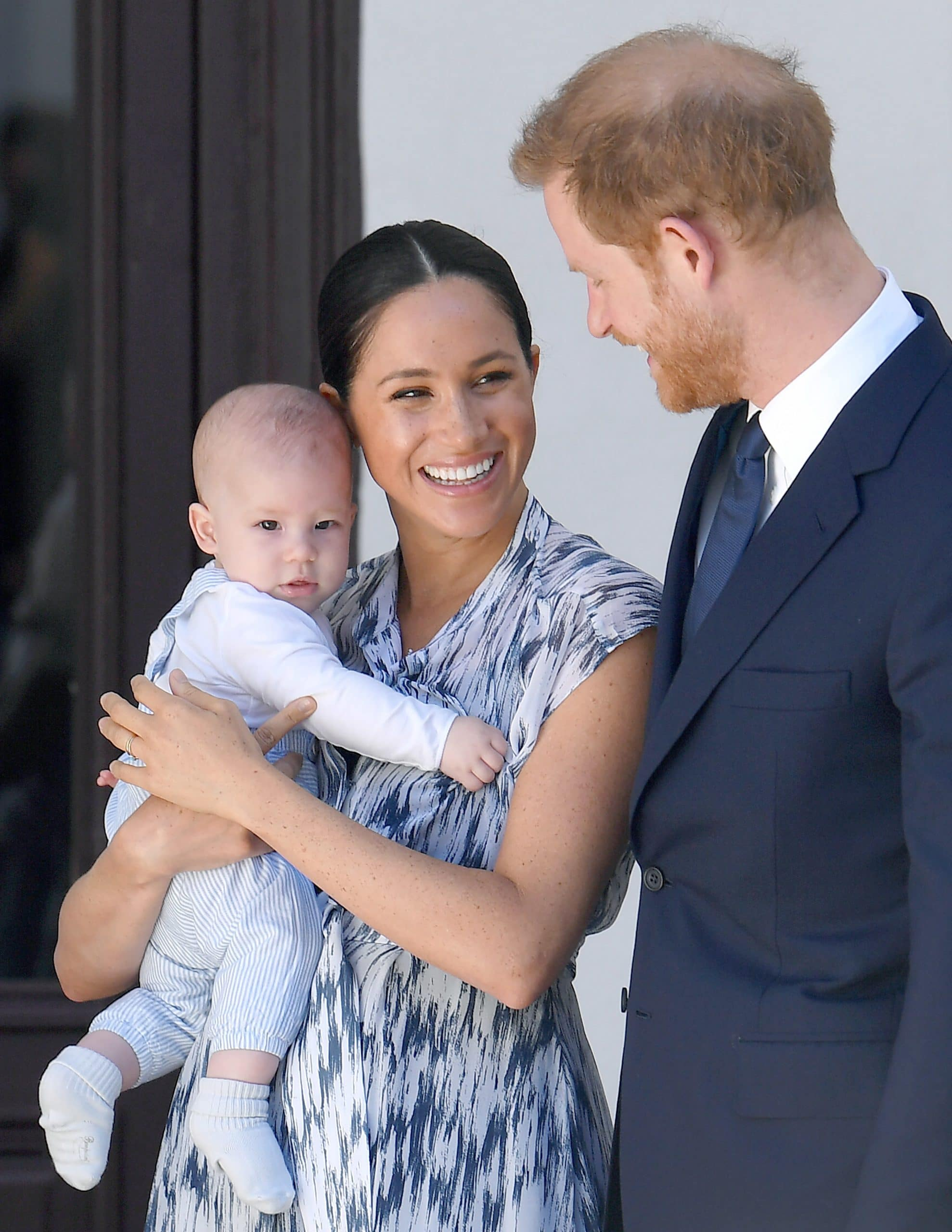 Prince Harry Duke of Sussex, Meghan Markle Duchess of Sussex and son Archie Harrison Mountbatten-Windsor