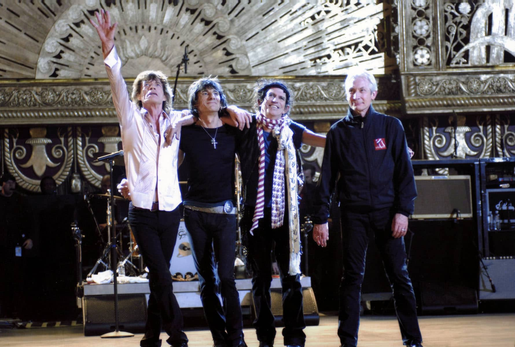 SHINE A LIGHT, The Rolling Stones: Mick Jagger, Ron Wood, Keith Richards, Charlie Watts, 2007