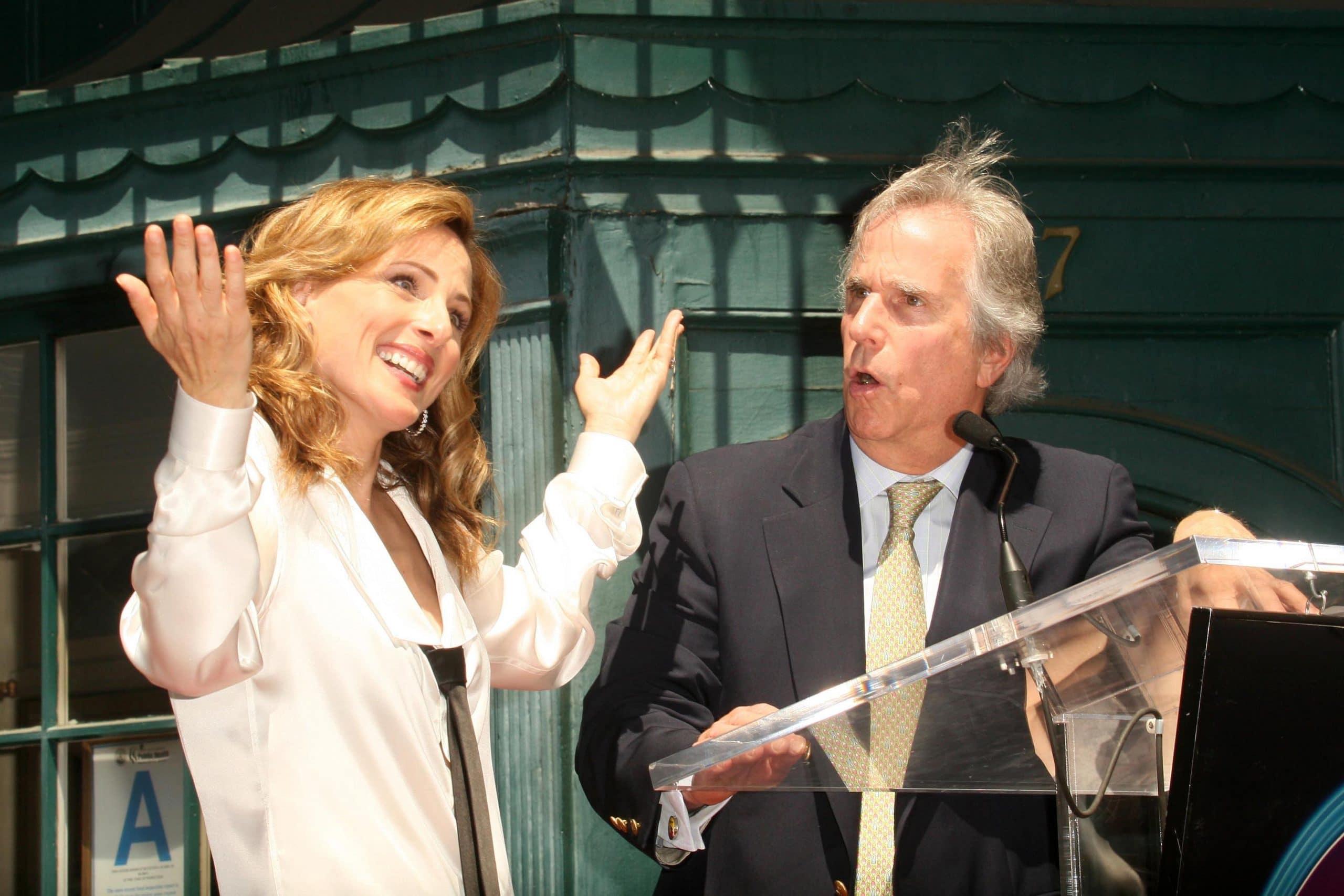 Marlee Matlin and Henry Winkler at the Walk of Fame Ceremony Honoring Marlee Matlin