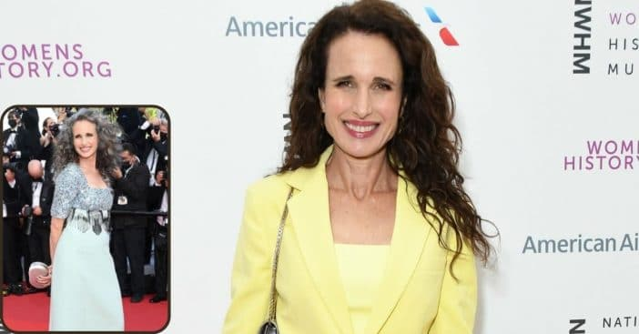 63-Year-Old Andie MacDowell Opens Up About Embracing Gray Hair And Aging